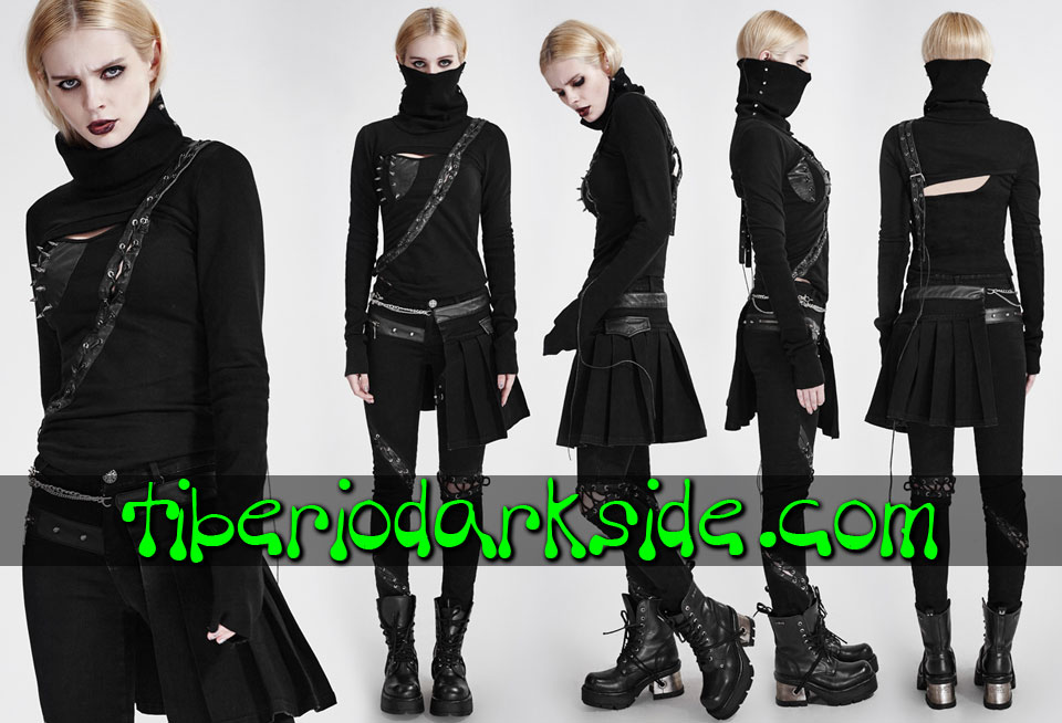POST APOCALYPTIC & CYBER GOTH - Tops PUNK RAVE Top Post Apocaliptico Asesina