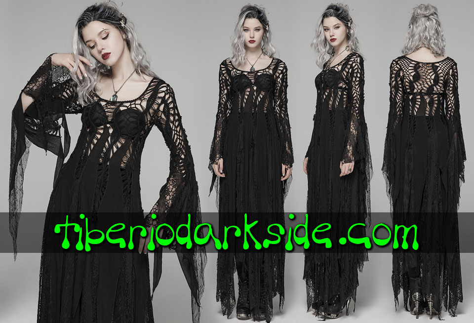 - BOHO GOTH PUNK RAVE Lace Sweater Boho Goth Dress
