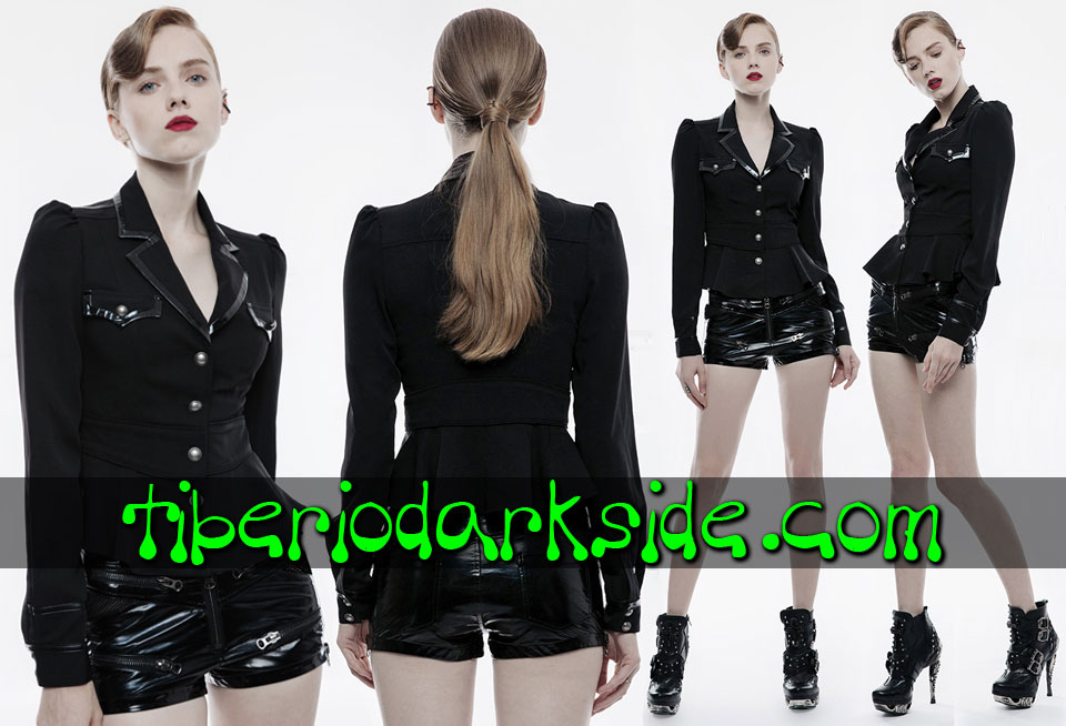 MILITARY - Outwear PUNK RAVE Black Corporate Goth Jacket