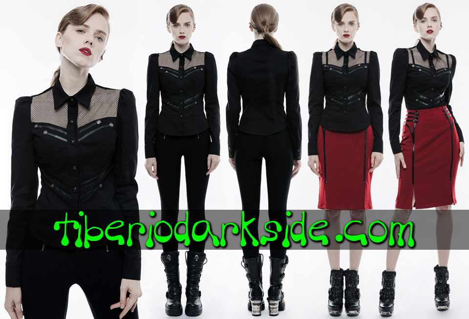 - MILITARY GOTH PUNK RAVE Camisa Corporate Goth