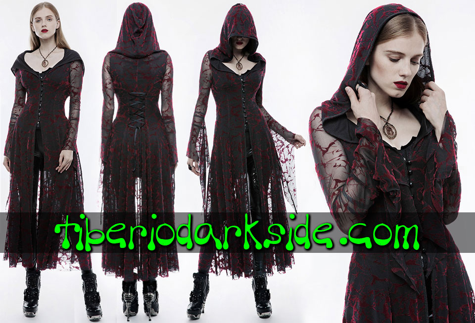 - VICTORIAN GOTH PUNK RAVE Blood Velvet Flocade Gothic Jacket