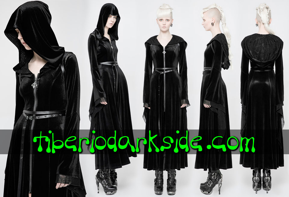 WITCHY & NU GOTH - Outwear PUNK RAVE Hooded Velvet Witchy Goth Robe
