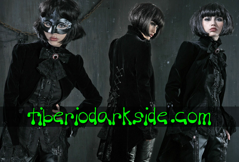 - CLASSIC & VICTORIAN GOTH PUNK RAVE Open Velvet Gothic Tail Jacket