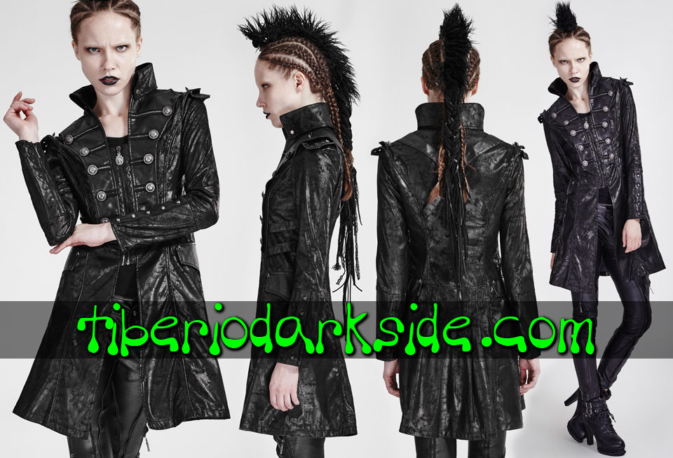 MILITARY - Outwear PUNK RAVE Spiked Military Jacket Coat