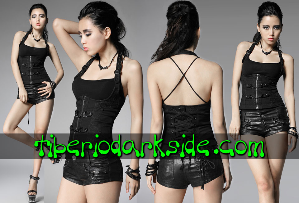 CORPORATE & MILITARY GOTH - Camisas y Tops PUNK RAVE Corse Underbust Esposas