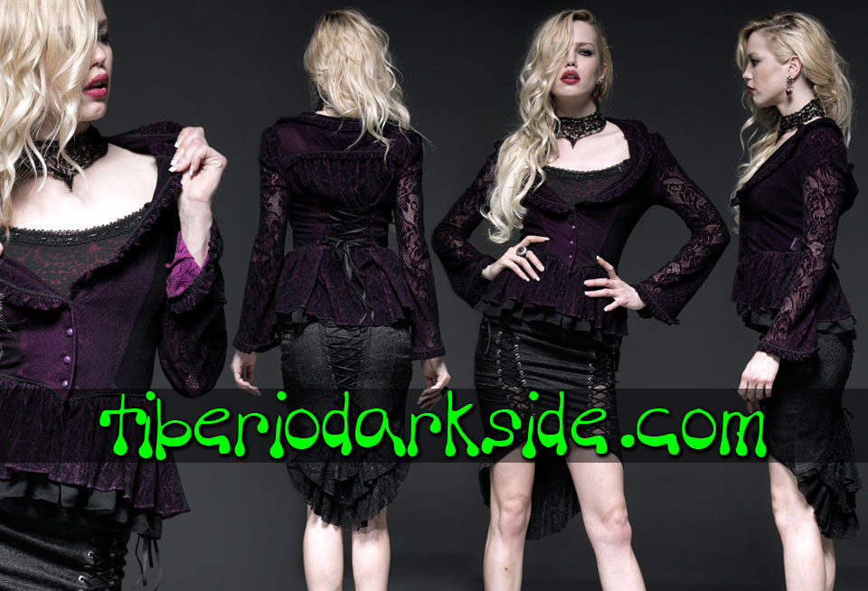 - VICTORIAN GOTH PUNK RAVE Purple Gothic Jacket