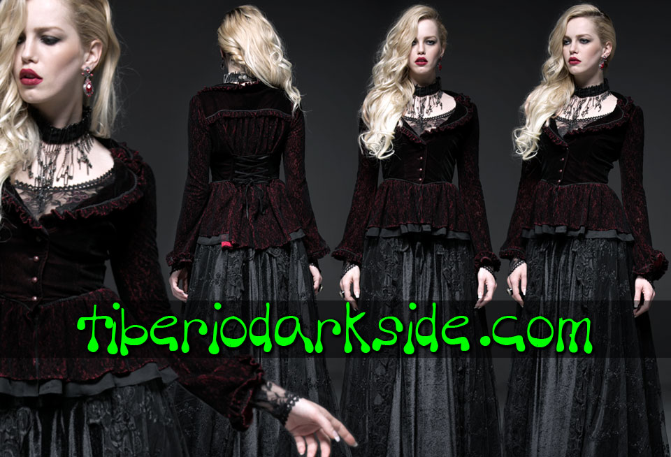 - VICTORIAN GOTH PUNK RAVE Red Gothic Jacket