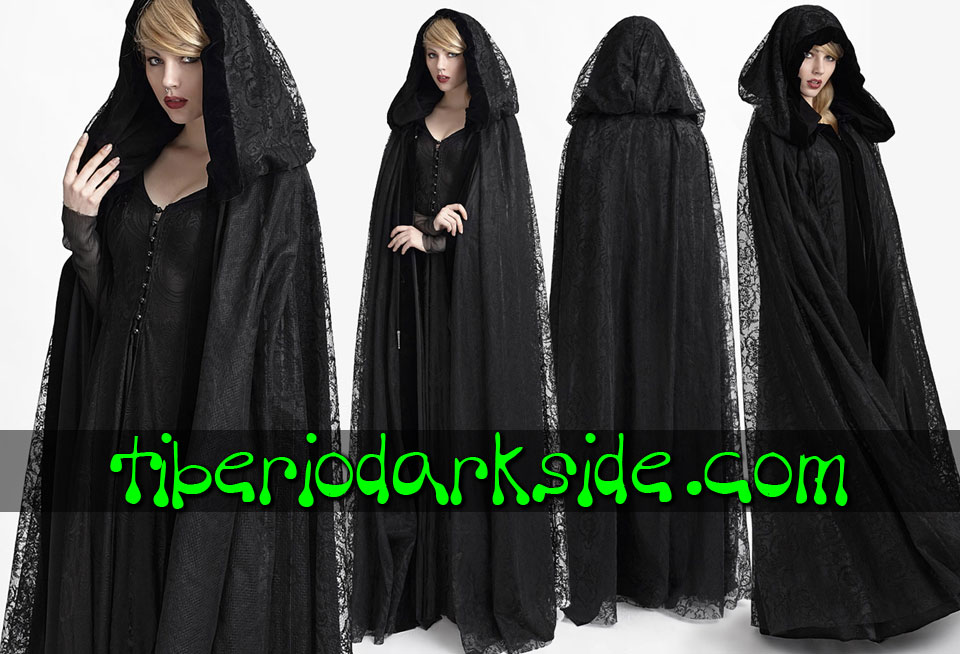 - CLASSIC & VICTORIAN GOTH PUNK RAVE Double Wear Hooded Gothic Cloak