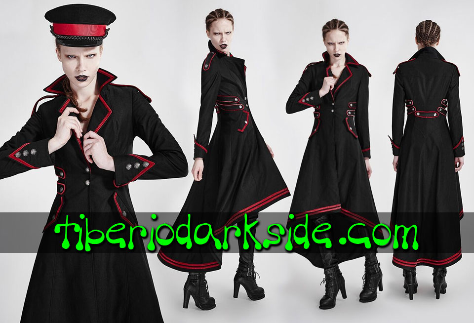 MILITARY - Outwear PUNK RAVE Red Trim Uniform Military Coat