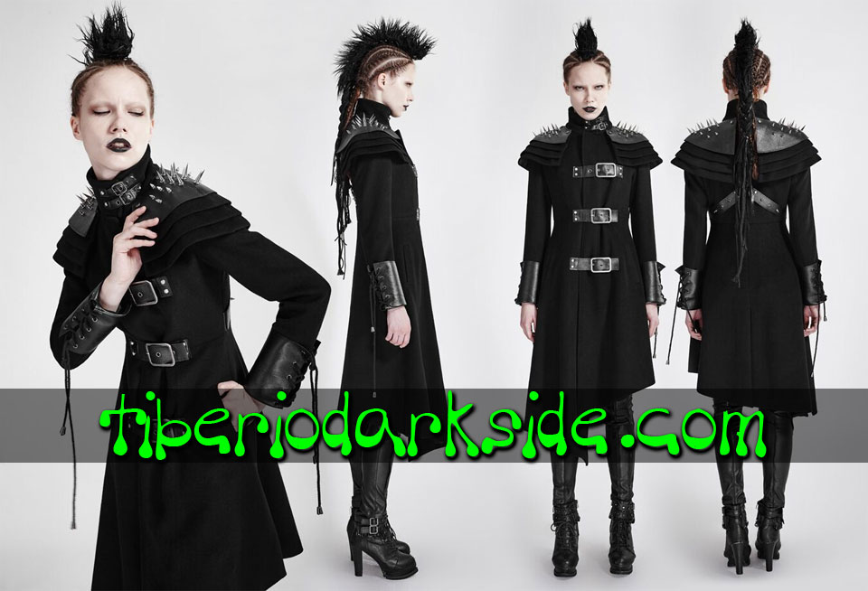 POST APOCALYPTIC - Outwear PUNK RAVE Black Military Post Apocalyptic Coat