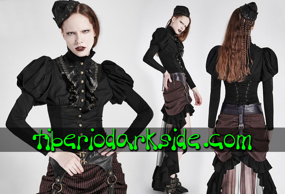 STEAMPUNK - Shirts PUNK RAVE Black Victorian Steampunk Shirt