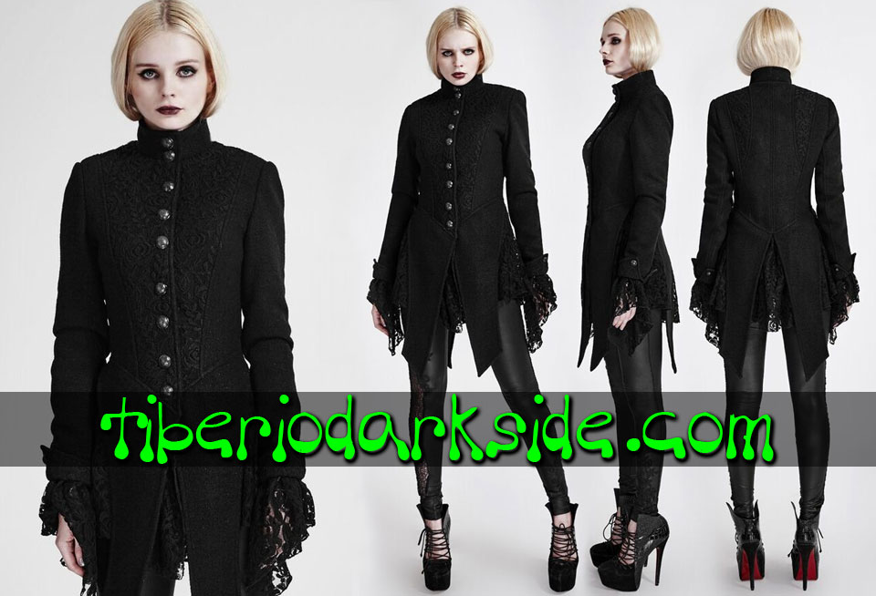- CLASSIC & VICTORIAN GOTH PUNK RAVE Lace Woolen Gothic Jacket