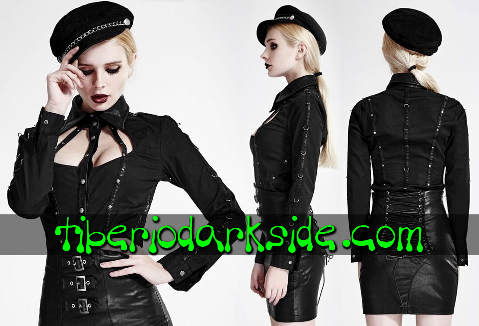 Camisas - Manga Larga PUNK RAVE Camisa Uniforme Fetish