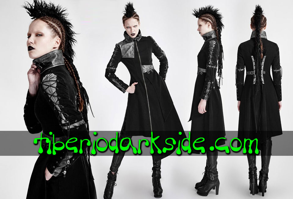 POST APOCALYPTIC & CYBER GOTH - Outwear PUNK RAVE Asymmetric Post Apocalyptic Coat