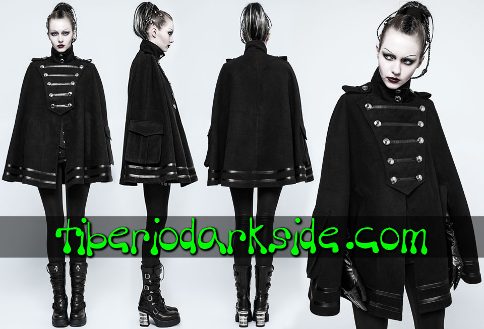 CORPORATE & MILITARY GOTH - Ropa de Abrigo PUNK RAVE Capa Militar Uniforme Ejercito