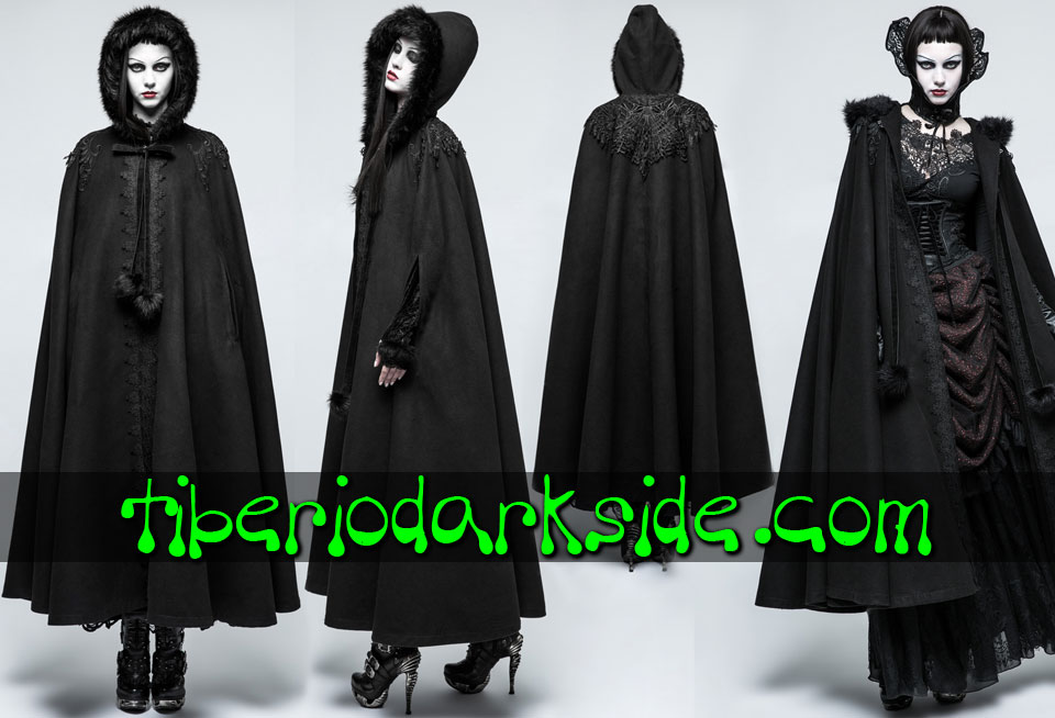 - VICTORIAN GOTH PUN RAVE Romantic Hooded Gothic Cloak