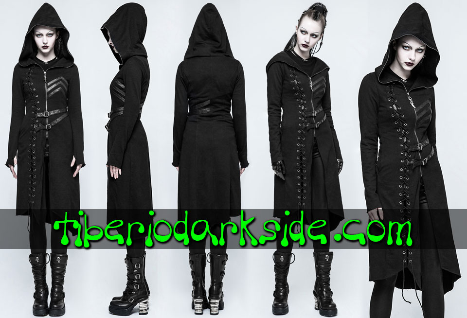 WITCHY & NU GOTH - Outwear PUNK RAVE Sicaria Hooded Nu Goth Coat