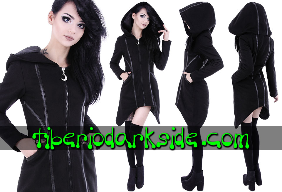 RESTYLE - Outwear RESTYLE Assassin Nu Goth Long Hoodie