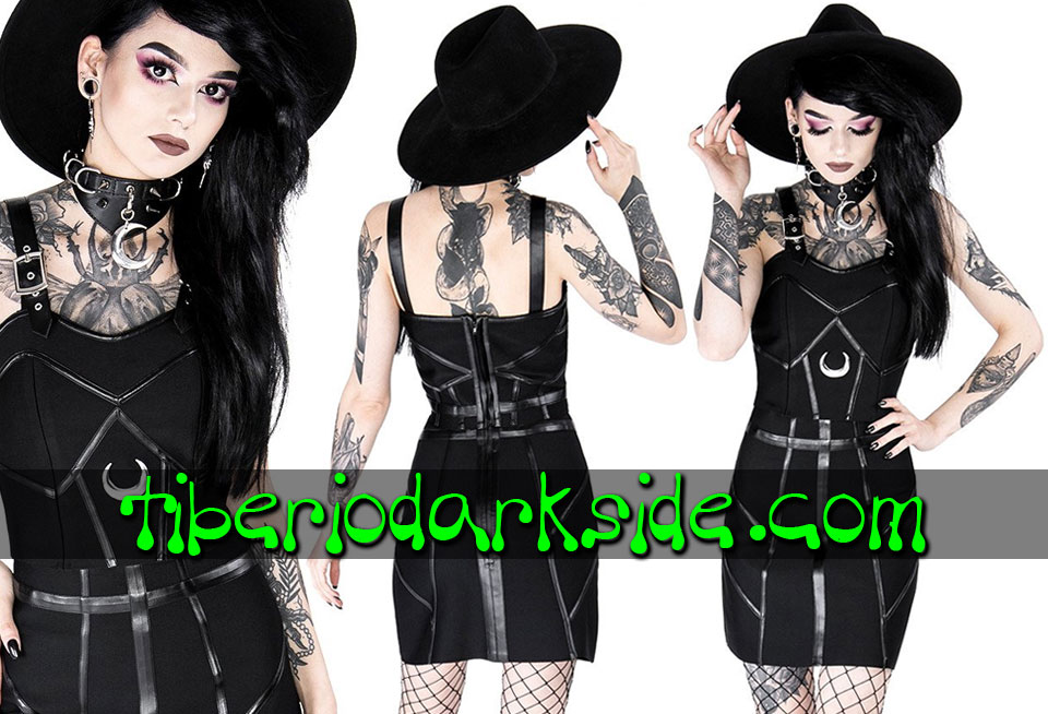 RESTYLE - Shirts & Tops RESTYLE Moon Bandage Nu Goth Crop Top