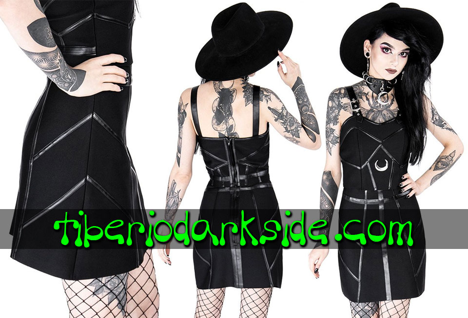 RESTYLE - Skirts RESTYLE Bandage Leather Trim Nu Goth Skirt