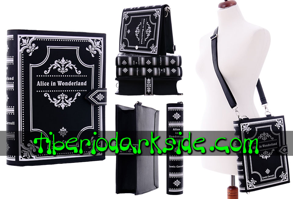 - GOTHIC LOLITA RESTYLE Black Alice in Wonderland Book Bag