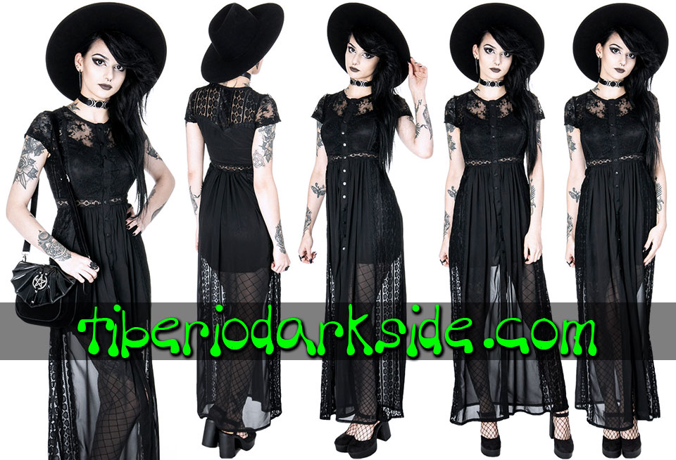- BOHO GOTH RESTYLE Black Lace Grace Romantic Bohemian Dress