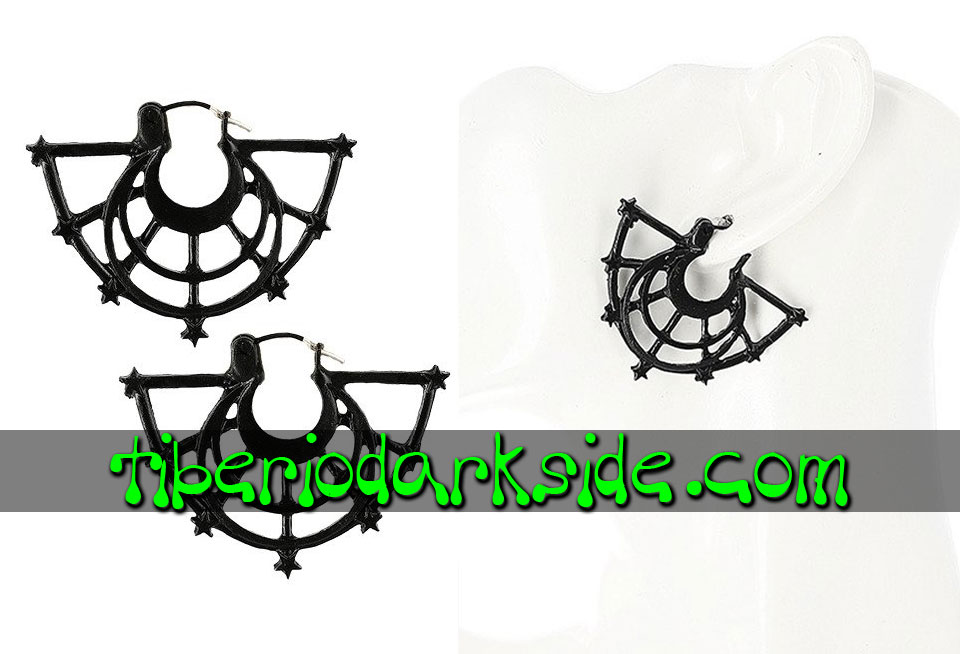 JEWELLERY - Earrings RESTYLE Black Moon Rise Nu Goth Earrings
