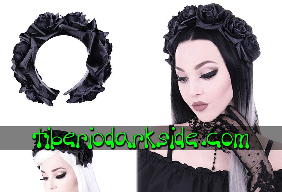 WITCHY & NU GOTH - Accesorios RESTYLE Diadema Rosas Negras