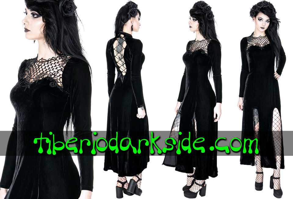 - BOHO GOTH RESTYLE Black Widow Boho Goth Dress