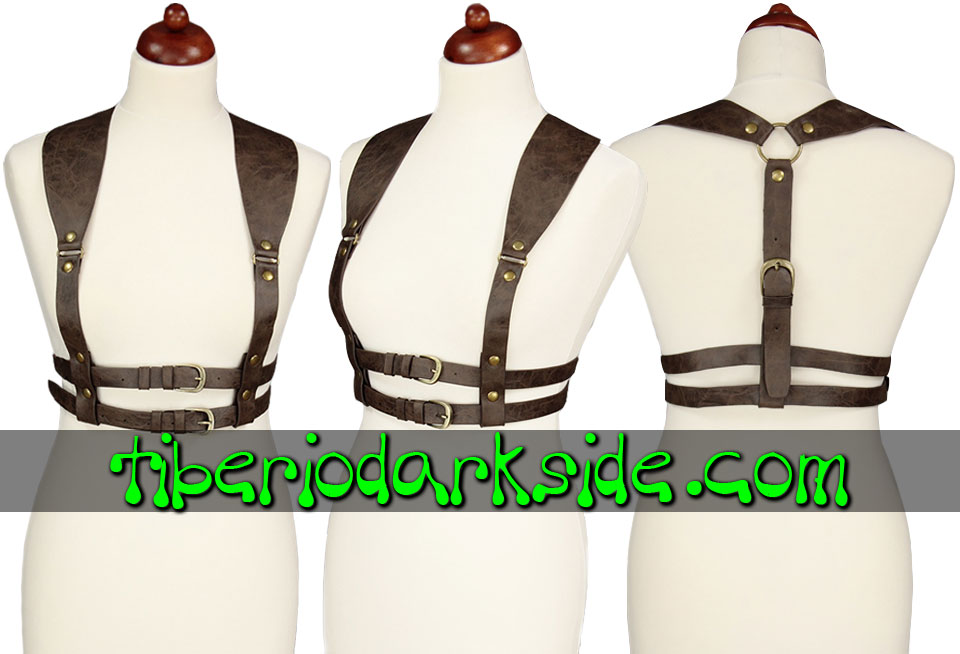 ACCESSORIES - Harnesses RESTYLE Brown Steampunk Harness