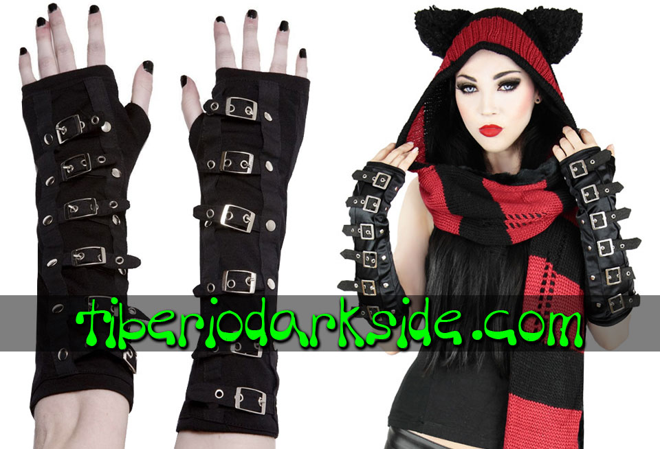ACCESSORIES - Gloves RESTYLE Buckles Gothic Gloves