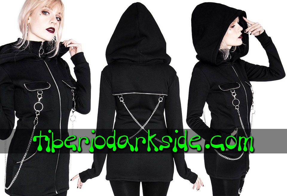 Outwear - Hoodies RESTYLE Chained Nu Goth Hoodie