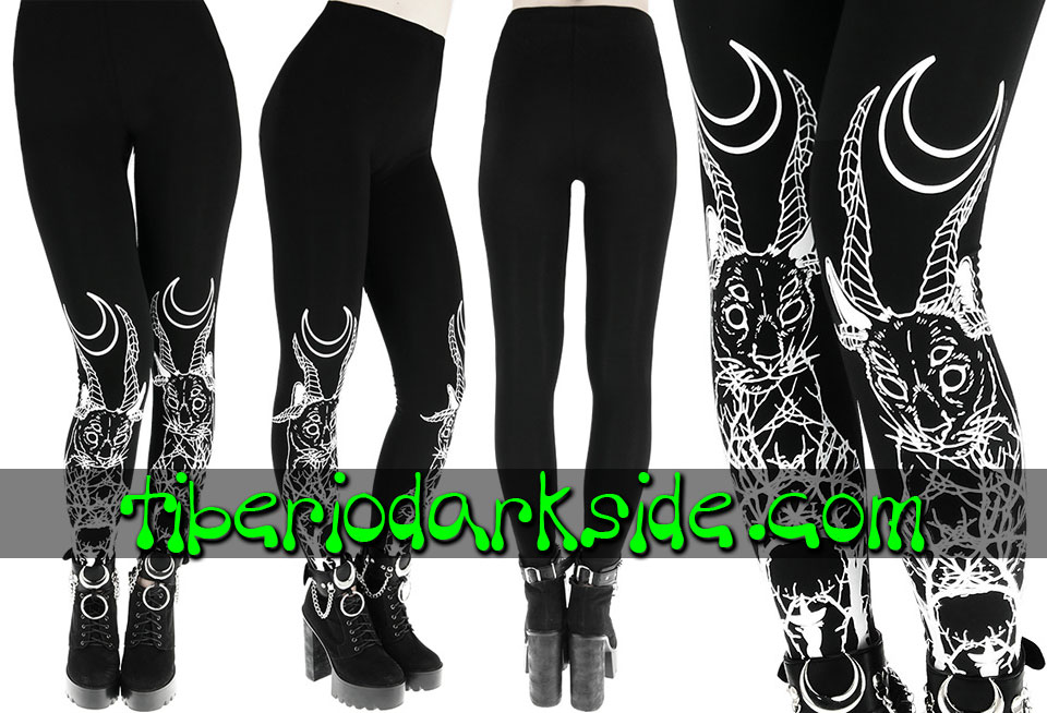 Pantalones - Leggings RESTYLE Leggings Nu Goth Gato Demoniaco