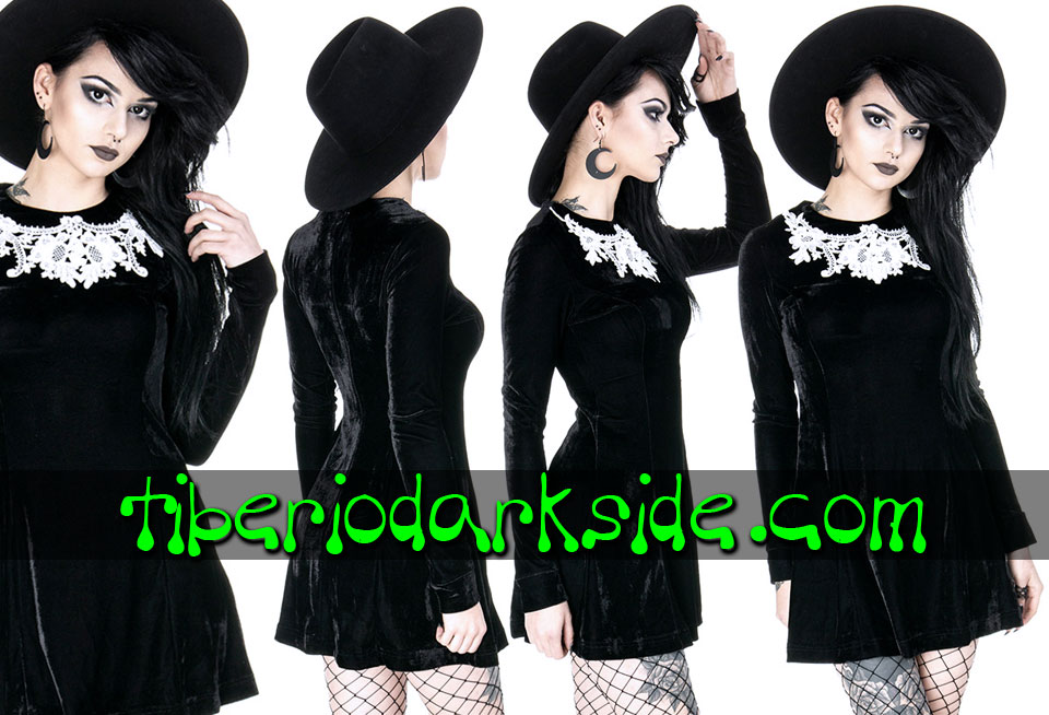 - VICTORIAN GOTH RESTYLE Dolly Velvet Gothic Dress