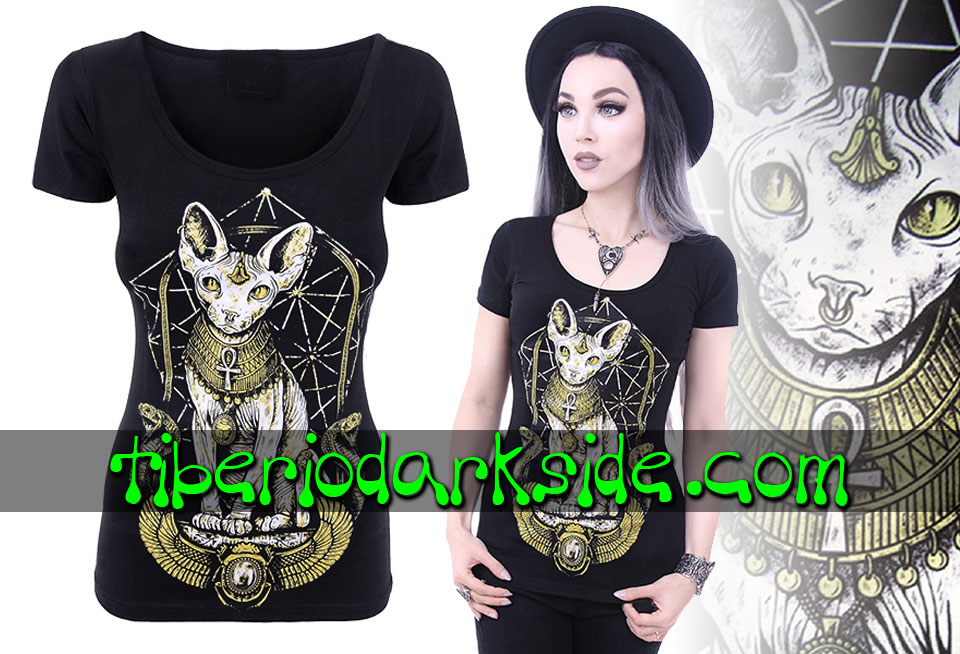 RESTYLE - T-Shirts RESTYLE Egyptian Sphynx Cat Fitted T-Shirt