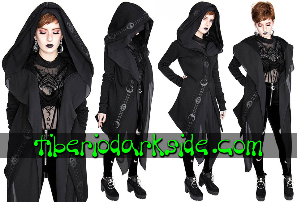RESTYLE - Outwear RESTYLE Fortune Teller Nu Goth Long Hoodie