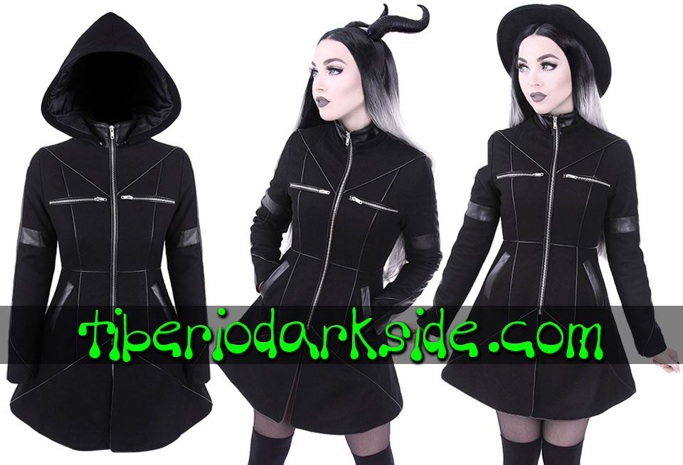 RESTYLE - Outwear RESTYLE Geometry Nu Goth Hooded Coat