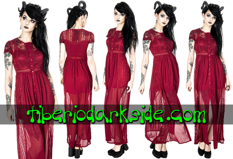- BOHO GOTH RESTYLE Red Lace Grace Romantic Bohemian Dress