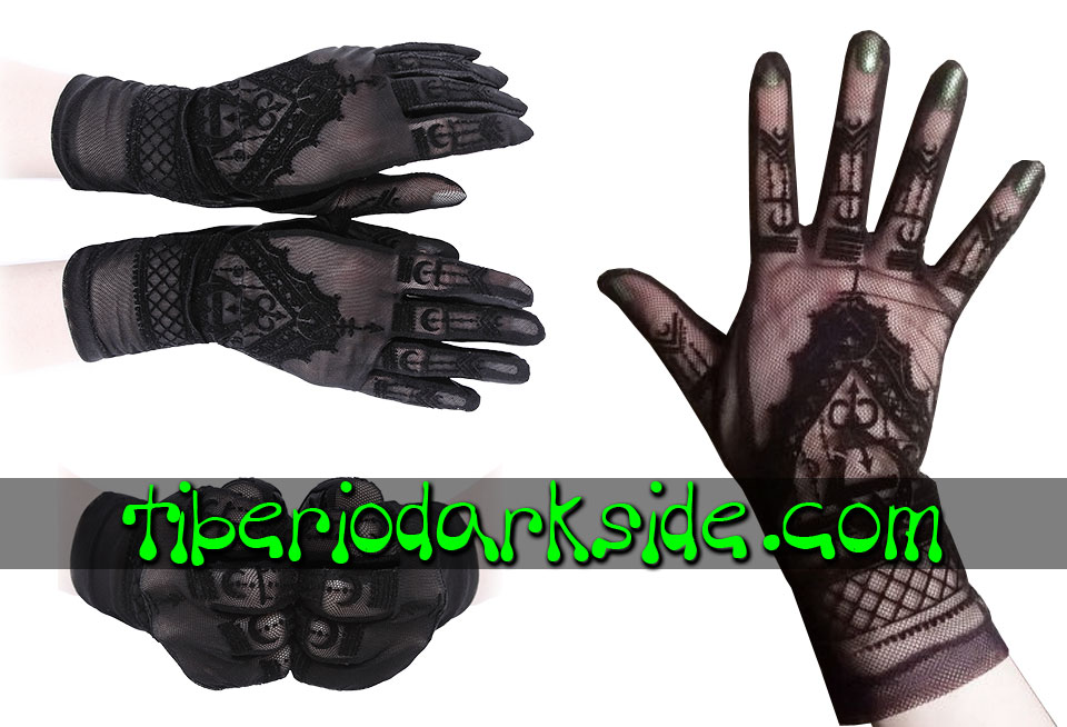 WITCHY & NU GOTH - Accesorios RESTYLE Guantes Nu Goth Malla Henna