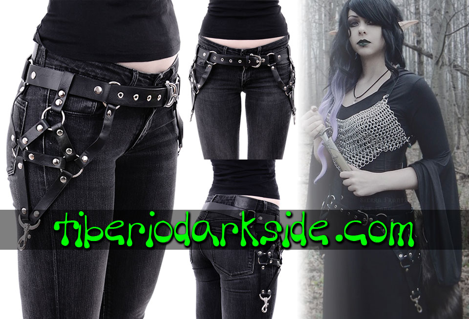 WITCHY & NU GOTH - Accessories RESTYLE Hips Harness Nu Goth Belt