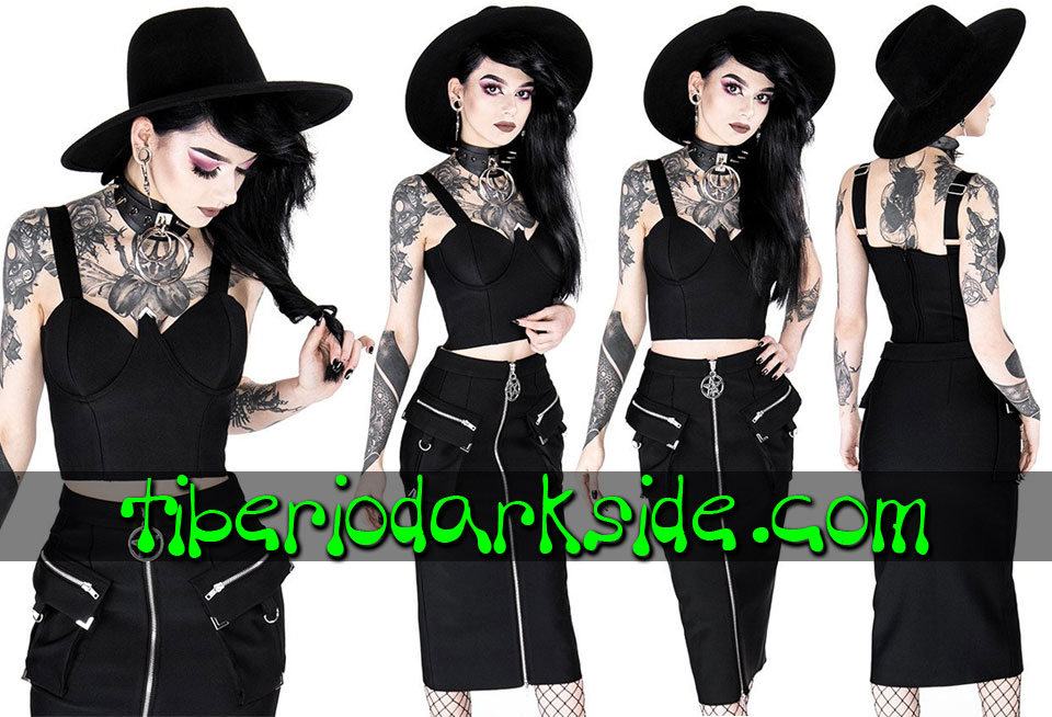 WITCHY & NU GOTH - Camisas y Tops RESTYLE Top Corto Nu Goth Lenora Bralette