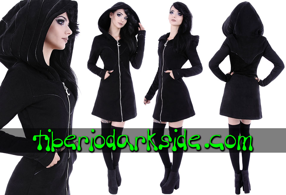 RESTYLE - Outwear RESTYLE Lunatic Nu Goth Long Hoodie