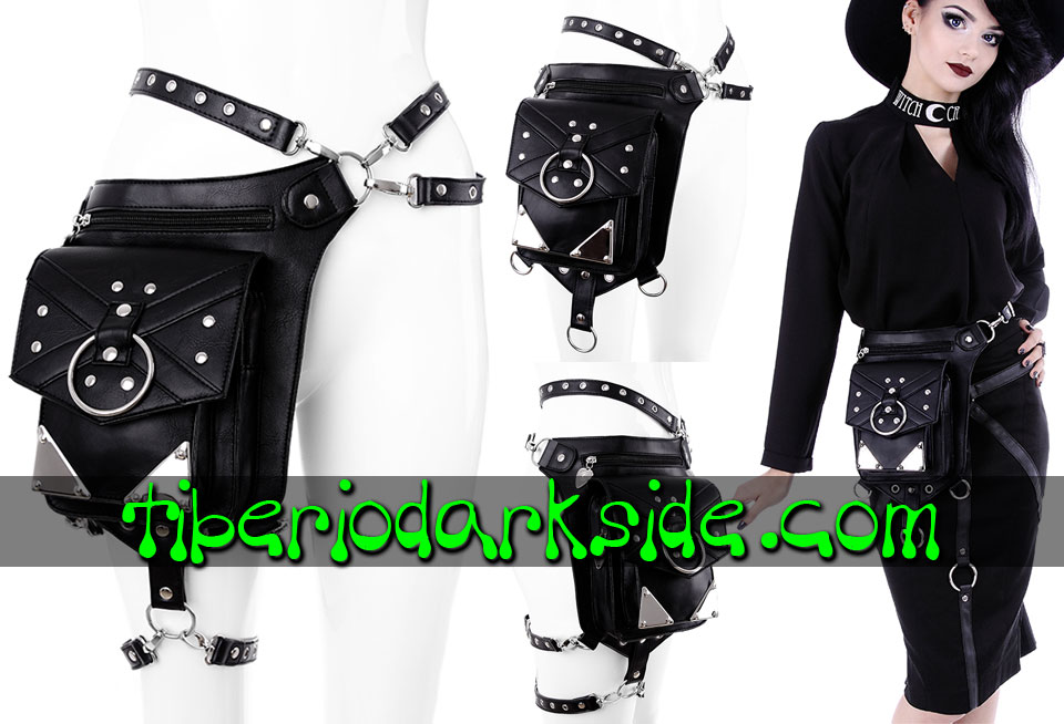 WITCHY & NU GOTH - Accessories RESTYLE Metal Plaques Holster Bag Belt