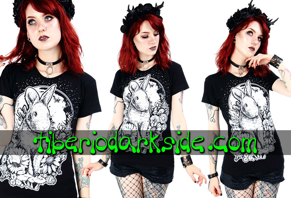 RESTYLE - T-Shirts RESTYLE Moon Bunny Fitted T-Shirt