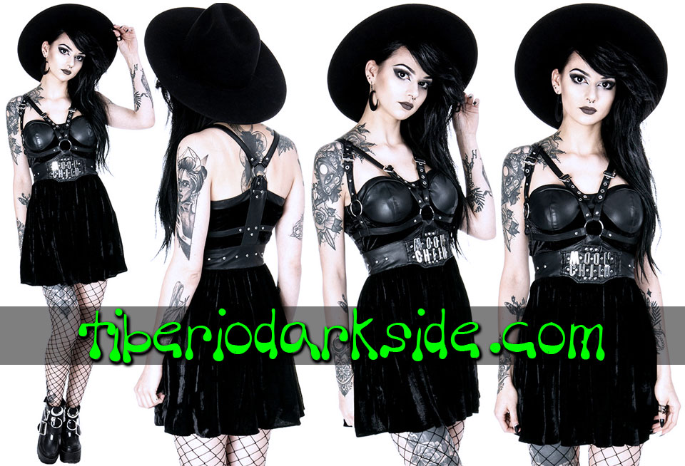 RESTYLE - Dresses RESTYLE Moon Child Harness Nu Goth Dress