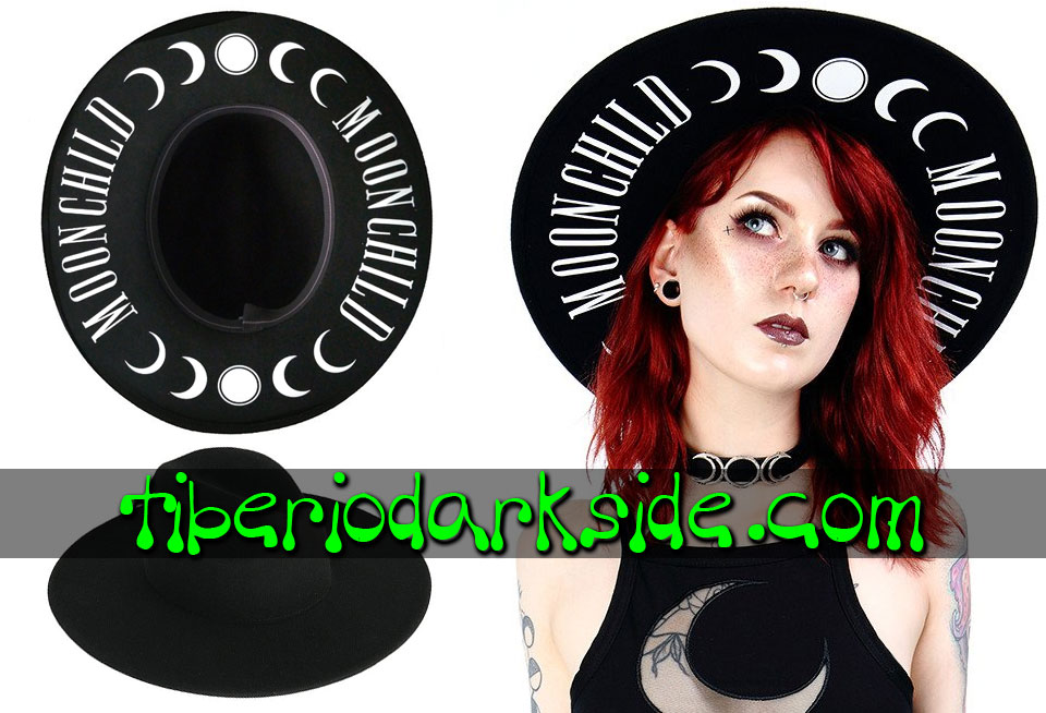 WITCHY & NU GOTH - Accesorios RESTYLE Sombrero Nu Goth Moon Child