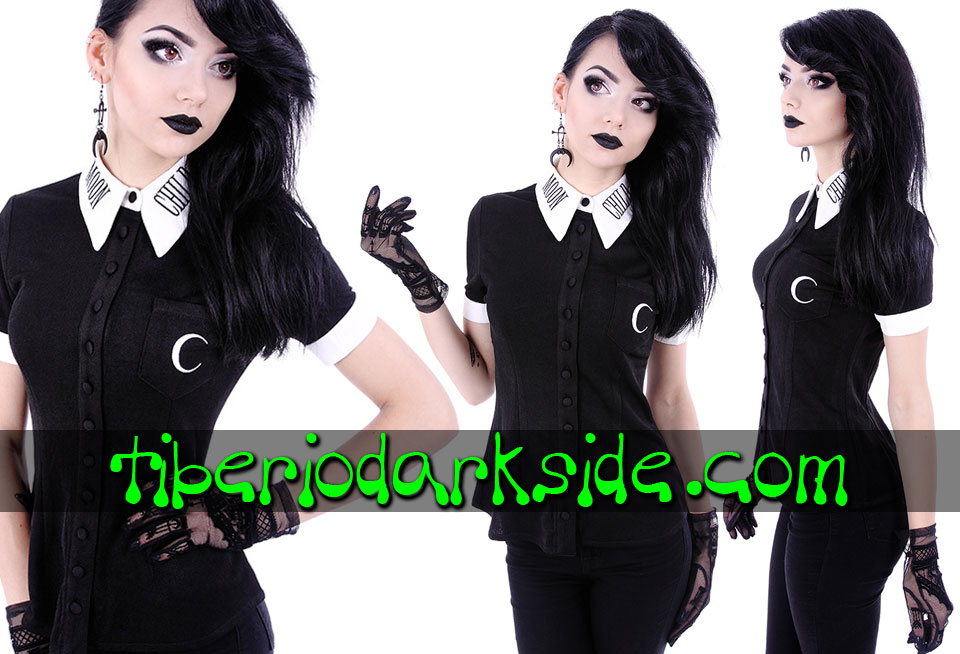 RESTYLE - Shirts & Tops RESTYLE Moon Child Nu Goth Shirt