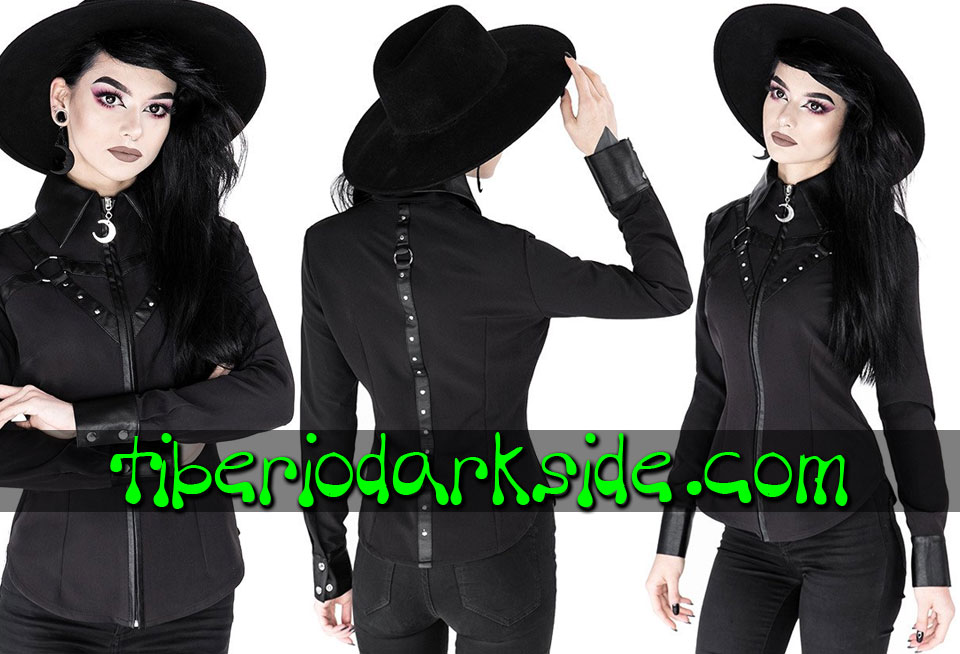 RESTYLE - Shirts & Tops RESTYLE Moon Harness Nu Goth Shirt