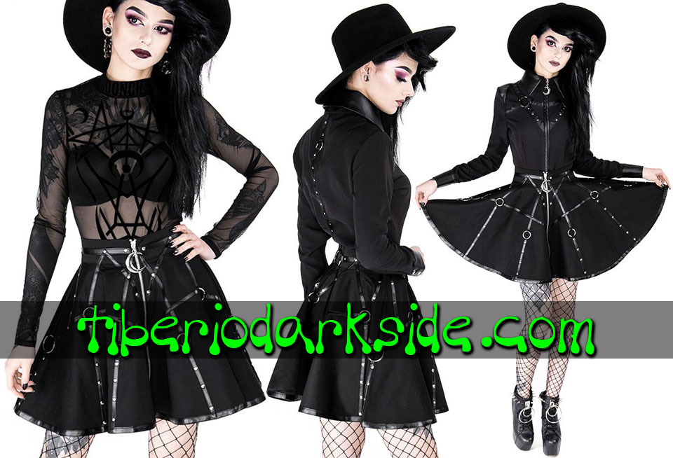 Skirts - Short RESTYLE Moon Harness Nu Goth Skirt