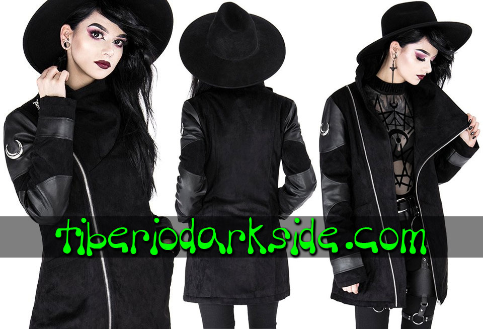 RESTYLE - Outwear RESTYLE Moon Paneled Nu Goth Coat